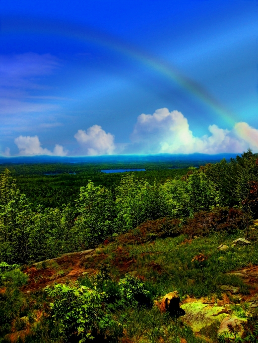 Rainbow from a Mountaintop